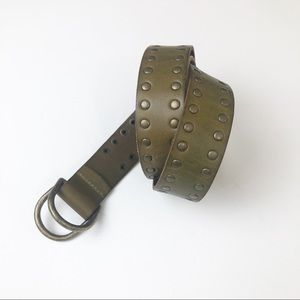 Army Green Genuine Leather Belt